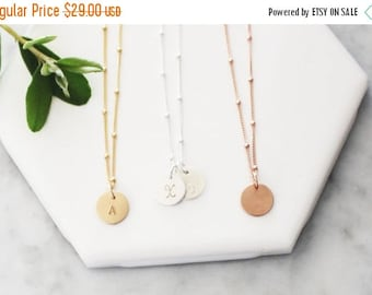 Charm Necklace, Petite Initial Necklace, Personalized Necklace, 1, 2 or 3 Initial Everyday Necklace, Gift for Her, TheSilverWren