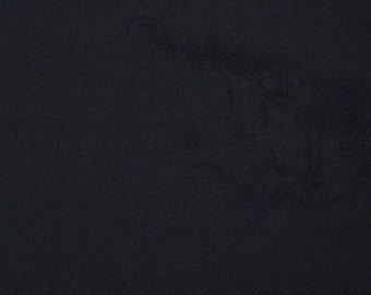 Vintage haori S378, black silk,