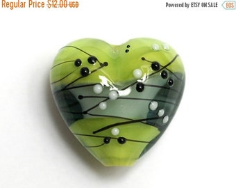 ON SALE 35% OFF Handmade Glass Lampwork Bead - 11835405 May Day Party Heart