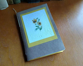 Yellow Junk Journal Mini Book Decorated Pages Daybook
