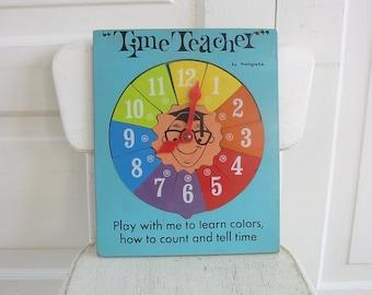 Vintage Wood Puzzle, Telling Time Puzzle, Child Puzzle, Time Teacher Puzzle, Holgate Puzzle, Numbers Puzzle, Time Puzzle, Clock Puzzle
