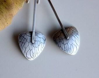 Adventures in Weeding... handcrafted, sterling silver, botanic modern earrings