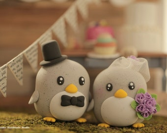 penguin cake topper---Special Edition (K204),penguin wedding cake topper