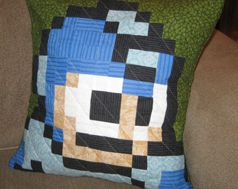 Megaman Quilted Pillow Cover - Free USA Shipping