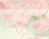 Custom Order Wedding Cake Topper - For joiifulness