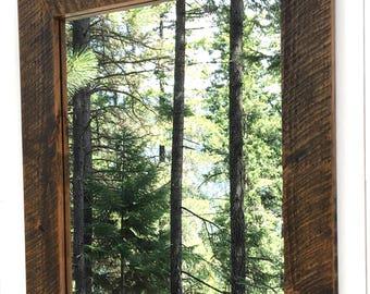 Rustic Vanity Mirror, Vanity Mirror, Wood Mirror