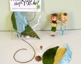 """Fairy upcycle kit for 3"""" doll"""