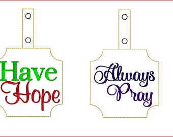 2 Bag Tags ITH Embroidery Designs** Not Physical Item** MUST have embroidery machine