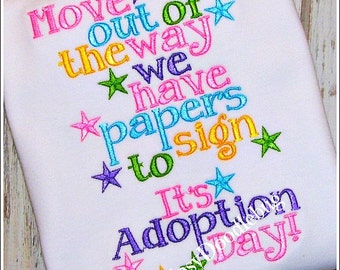 Adoption Day - Girls Adoption Shirt- Adoption Shirt- Adoption Day Shirt - Girls Adoption - Boys Adoption - Adoption - Forever Family