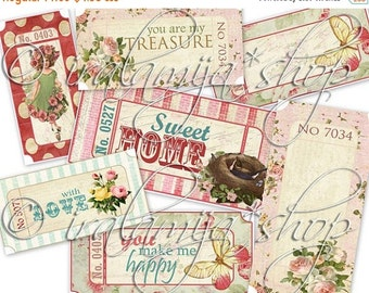 SALE TICKETS Collage Digital Images -printable download file-