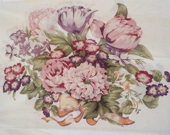 Elegant pillowcase set - spring bouquet