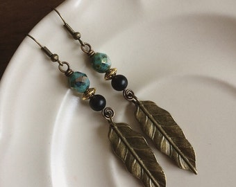 ANCIENT FEATHERS rustic brass vintage inspired wirework