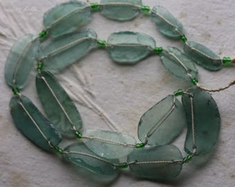 ANCIENT ROMAN GLASS No. 245 .. Genuine Antique Roman Glass Fragment Beads (rg-245)