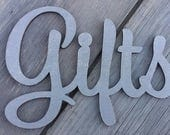 "4"" Wedding GIFTS Sign Silver with glitter Laser Cut Wooden Cards Sign-Cards banner- Cards wedding decor-rustic wedding-Card Box Sign"