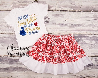 Spring Baby Toddler Clothes, Princess Snow White Inspired, Newborn Girl Coming Home Outfit, Birthday Party Shirt