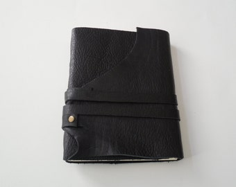 Black Leather with Double Tie