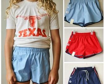 SPRING SALE Deadstock 1970s Canadian Swim Trunks >>> Kids Sizes 10/12/14/16