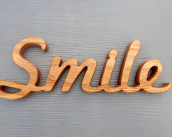 smile shelf sitter sign word art