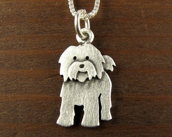 Tiny Tibetan terrier necklace / pendant