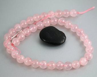 Rose Quartz Beads - 10mm Round - Rose Quartz - Full Strand