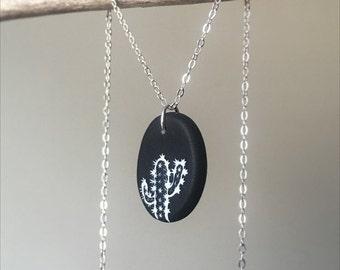Cactus Necklace/ Cactus Jewelry/ Cactus/ Cactus Pendant/ Cactus Charm Necklace/ Cactus Club Necklace/ Cactus Pendant Jewelry/ Saguaro Charm