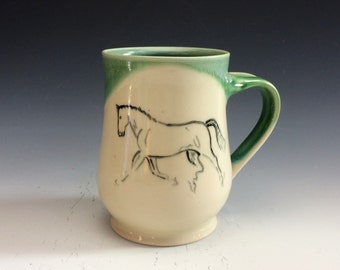 Trotting Horse Mug- Wintergreen