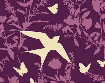 3 yards - Swallow Study JD070 Lavender -  Bungalow by Joel Dewberry