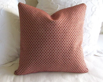 Chenille decorative Pillow Cover 18x18 20x20 22x22 24x24 26x26 poppy