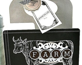 farmhouse mini caddy-FARM COW-rustic CHIC decor