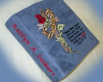 Bible cover, Custom Bible Cover, Bible book cover, Embroidered bible cover, personalized Bible cover, for teens / for adults