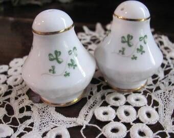 Royal Tara Shamrock Salt and Pepper Shakers