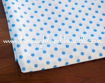Blue Dots- Vintage Fabric Whimsical Novelty New Old Stock 70s Adorable