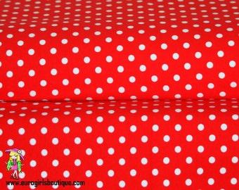 Lil red dots 1 yard knit cotton lycra