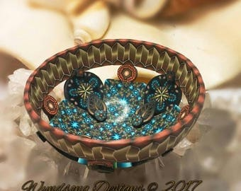 Bronze Fairy Jewelry Ring Necklace Mini Altar Bowl Dresser Nightstand Polymer Clay