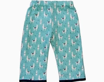 ON SALE 40% OFF Llama Pants - Bohemian Clothing - Tribal - Conscious Childrens Clothing - Boys Pants - Girls Pants - Toddler Pants - 2t - 3t