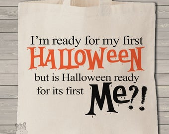 funny trick or treat bag for baby's first halloween - scary candy bag - MBAG1-046