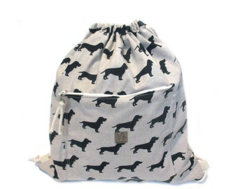 dog backpack cotton linen
