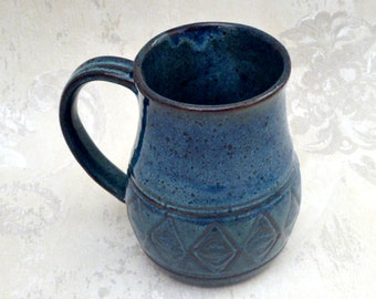Decorative Mug in Deep Blue