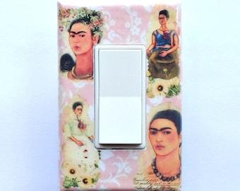 Frida ROCKER Selections- MATCHING SCREWS- Frida Kahlo folk art Mexican folk art Bohemian art Frida plates Frida crafts Frida Kahlo paintings