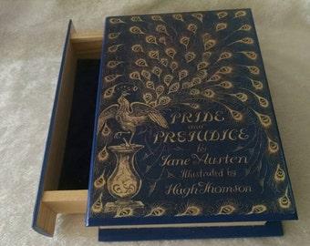 Pride and Prejudice - Book Jewelry Box - Wooden Box - Wooden Jewelry Box with Drawer - Pride and Prejudice Jewelry Box Jane Austen Book Box