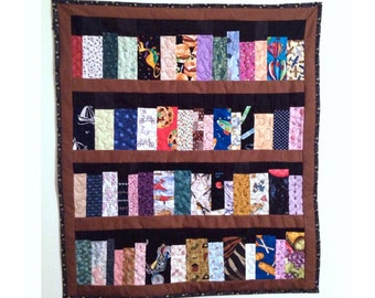 "Book case quilt, 26""x29"", 4 shelf book case, library quilt, machine quilted"