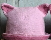 Pink Pussyhat - Pussy Cat Hat  Feminist Hat  Pink Pussy Hat  Felt Pussycat Hat  Women's Rights Hat  Pink Cat Hat  Women's March Hat RESERVED
