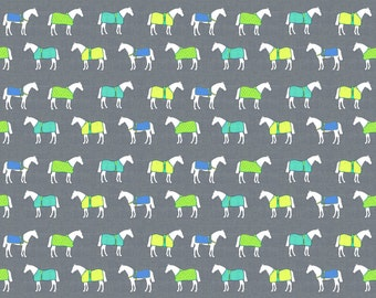 Equestrian Fabric - Horse Rugs Of A Different Color By Ragan - Equestrian Cotton Fabric By The Yard With Spoonflower