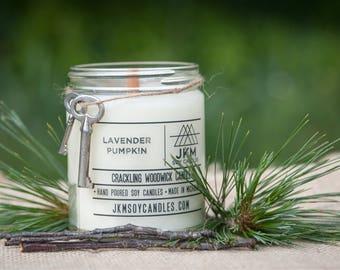 Lavender Pumpkin crackling woodwick candle