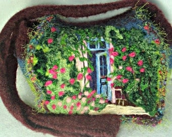 Felted Purse, Felted Handbag, Monet Art, Monet's Garden, Great Masters Paintings