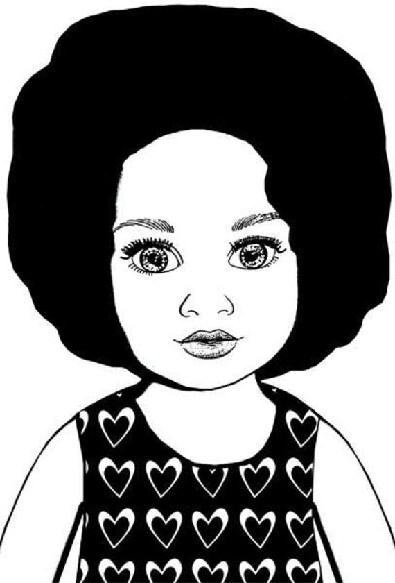 big eye black girl doll face png clipart stamp dolly Digital Image Download toy clip art printable graphics images art printables