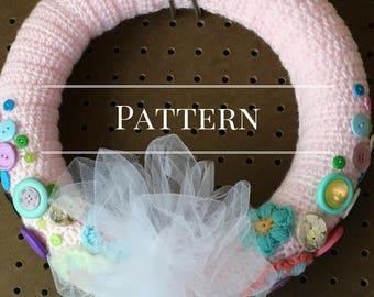 Crochet pattern Spring Wreath