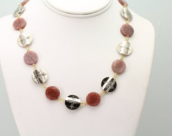 Muscovite Necklace. Listing 497621655