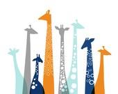 "20X16"" Giraffes Landscape Wrapped Canvas for Alexandra"