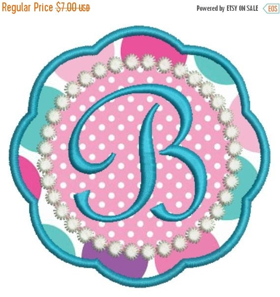 Sale off applique girly monogram fonts by